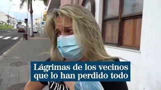 """Lágrimas y desconsuelo entre los vecinos por el volcán de La Palma: """"Pierdo mi casa nueva"""""""