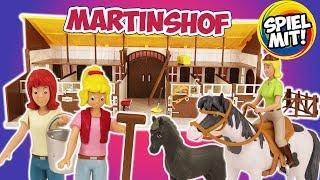 BIBI & TINA Großer Martinshof-Pferdestall für tolle Abenteuer auf dem Reiterhof | Aufbauen & Demo