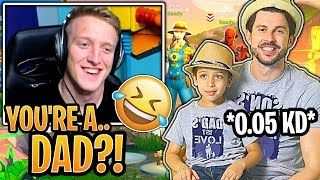 Tfue in TEARS Laughing After He Played a Duo Game With a Dad! - Fortnite Funny Moments