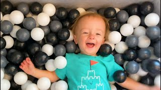 BABY LOVES THE BALL PIT!