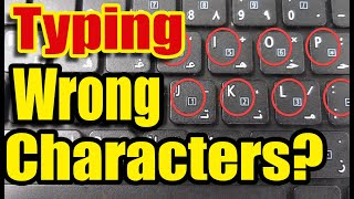 Keyboard Typing Wrong Characters. Number Instead Letter. Laptop Keyboard Not Working Properly .