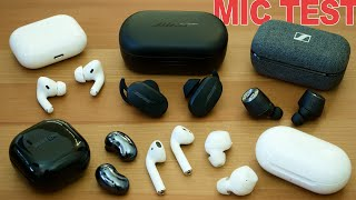 Bose QC Earbuds Mic Test - AirPods Pro Vs Galaxy Buds Live Vs Pixel Buds And More