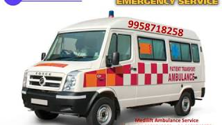 Get Medilift Ambulance Service in Pitampura and Saket