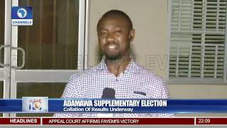 Adamawa Supplementary Election Collation Of Results Underway