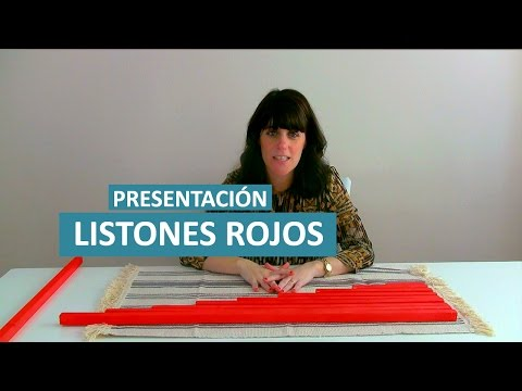 Presentación de los Listones Rojos Montessori en casa