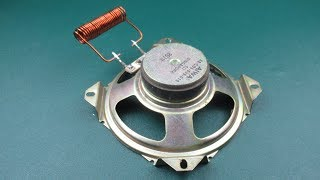 Science Free energy electric generator Using Speaker Magnet Coil Work 100%