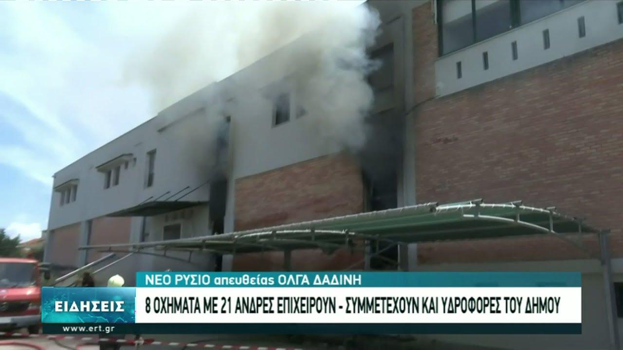 Φωτιά σε αποθήκη στο Νέο Ρύσιο | 18/06/2021 | ΕΡΤ