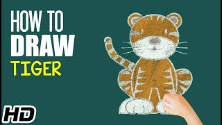How To Draw TIGER (शेर)| Easy Step By Step Drawing For Children | Shemaroo Kids Hindi