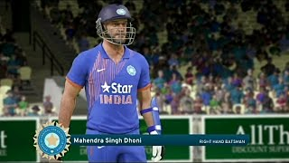 Don Bradman Cricket 17 India Vs England 2017 1st One Day (Msd is Back)