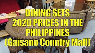 Dining Sets. 2020 Prices In The Philippines (Gaisano Country Mall)