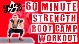 60 Minute Strength Boot Camp Workout  by Sydney Cummings