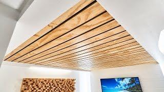 How To Make A Wood Slat Ceiling
