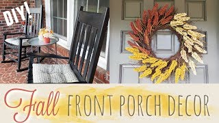 FALL FRONT PORCH DECORATE WITH ME | FARMHOUSE STYLE DECOR | 2018