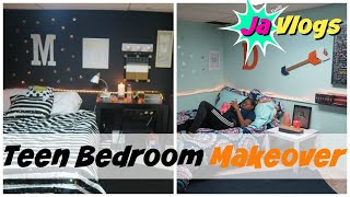 TEEN GIRLS BEDROOM MAKEOVER | TWO ROOMS IN ONE | Family Vlogs | JaVlogs
