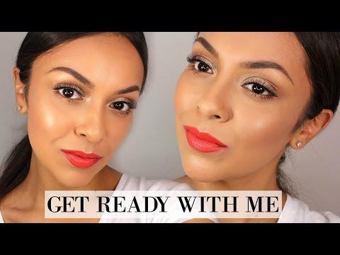 GRWM - Summer Makeup | Glowy Skin & Bright Lip - TrinaDuhra
