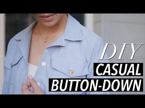 Download How To Make A Button Down Shirt (casual Chambray) | WITHWENDY HD Mp4 3GP Video and MP3