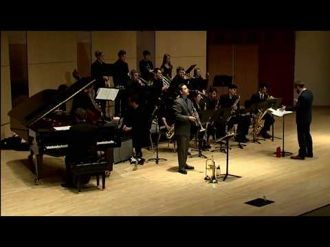 """Performance of Duke Ellington's """"Portrait of Louis Armstrong"""" as guest soloist with the Ithaca College Jazz Repertory Ensemble."""