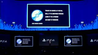 PS4 will Not restrict used games & Will Play offline E3 2013 Sony Press Conference【Highlights】 E3M13