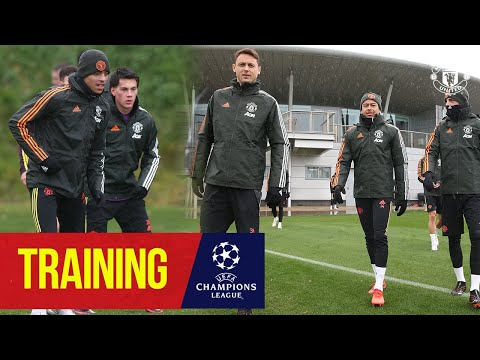 Training | United train ahead of Champions League match v Istanbul Basaksehir | Manchester United
