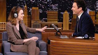 Emma Stone Hilariously Fails The Singing Whisper Challenge On The Tonight Show