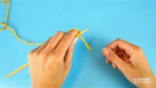 CONTINENTAL KNITTING - How To Cast On, Hold The Yarn And Adjust Tension