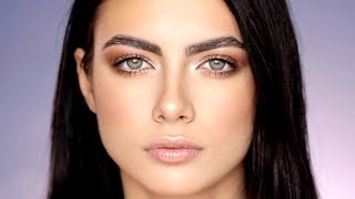 SOFT BRONZY LOOK FOR GREEN EYES | ALI ANDREEA