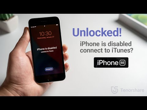 iPhone SE is Disabled, Connect to iTunes