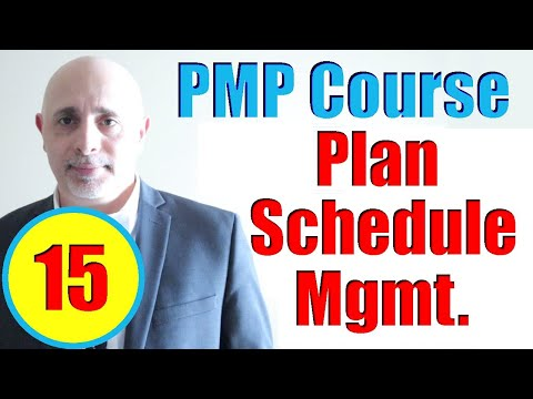 Plan Schedule Management Process | Full PMP Exam Prep Training ...