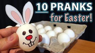10 Best EASTER & April Fools PRANKS on Family!!