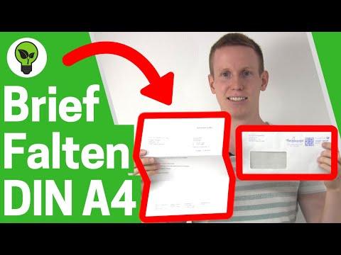 Brief falten a4 ✅ ULTIMATIVE ANLEITUNG: Für Umschlag, Din a4 Briefumschlag mit & ohne Fenster!!!