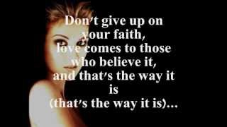 THAT'S THE WAY IT IS (LYRICS)   CELINE DION