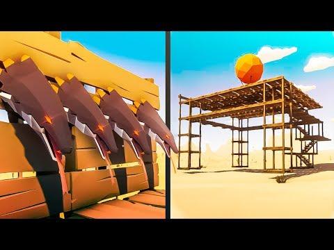 HUNTING SEEKERS IN THE SKY FORT! - Desert Skies Gameplay (Raft Clone)