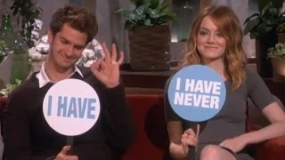 Emma Stone & Andrew Garfields One Night Stand Funny Ellen Interview