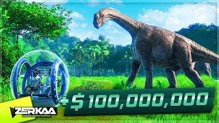 WE MADE $100,000,000 FROM OUR DINOSAUR PARK! (Jurassic World Evolution #11)