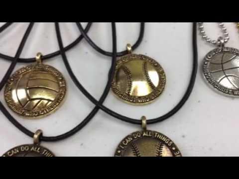 Forgiven Jewelry Philippians 4:13 Sports Necklaces