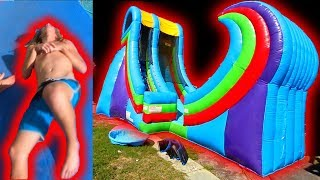 INSANE 50 FOOT WATERSLIDE ACCIDENT!! * MOST PAINFUL MOMENT OF MY LIFE* | JOOGSQUAD PPJT