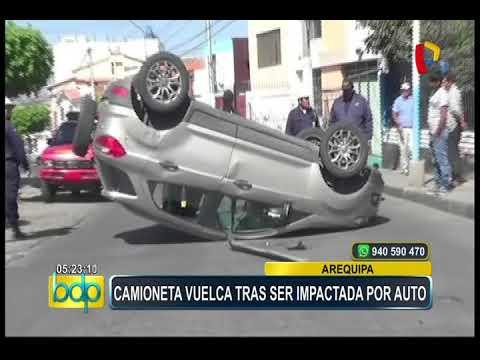 Arequipa: cámaras de seguridad registraron violento choque