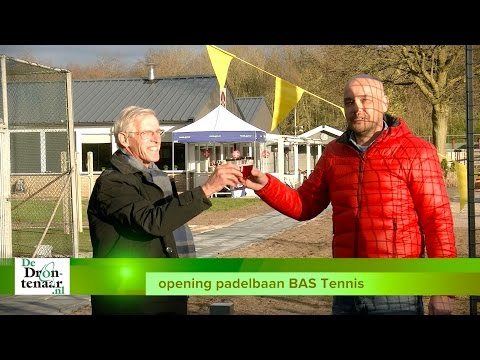 ATC Dronten opent tijdens tennistoernooi haar twee nieuwe padelbanen