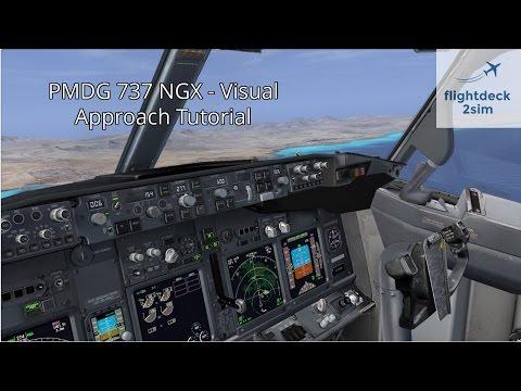 Boeing 737 Cockpit PMDG NGX Zurich to Nice - Part 3