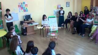 English lesson, 3 -4 years old European School Kindergarten.