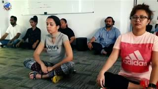 LC Well Yoga session with IQPC Middle East