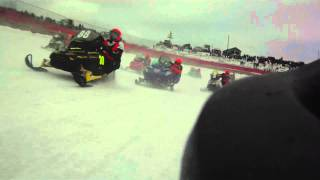 44th Annual I-500 Snowmachine Race Rear Shot X-1 Race Sled