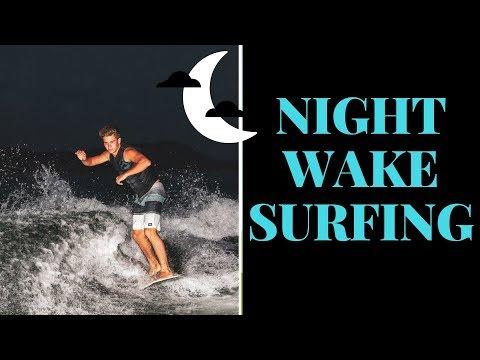 Professional Wakesurfing | 2018 Nautique G23 | Night Surfing