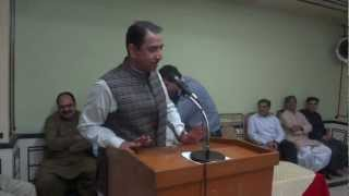 preview picture of video 'Address of Mr. Noor ul Amin Hotiana 4-5-2012'