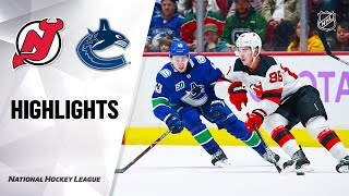 NHL Highlights | Devils @ Canucks 11/10/19