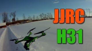 JJRC H31 Flight Test - Waterproof and Snowproof - Not Sure How, but it Really is!