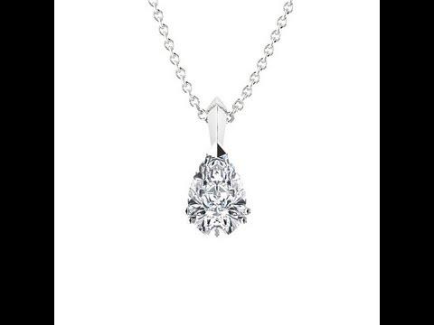 pendentif diamant poire