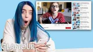 Billie Eilish Watches Fan Covers On YouTube | Glamour