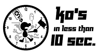 SSB4 - KO's in less than 10 seconds