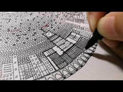 Handdrawn   Muslims Performing Solah   Masjidil Haram   Makkah   Pen Artwork   A4size   Bday Gift